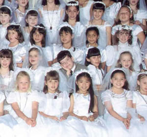 funny first communion picture